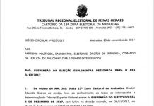 Eleições de domingo em Ibitiúra são suspensas pelo TSE