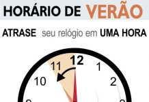 Horário de verão termina no próximo domingo