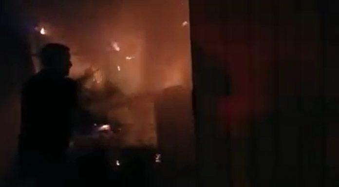 Malharia de Jacutinga é destruída por incêndio na madrugada