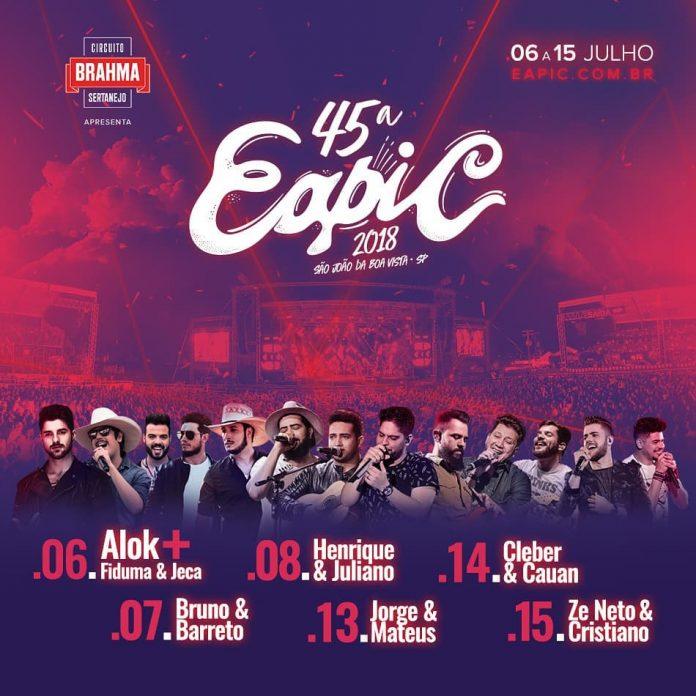 EAPIC tem shows confirmados