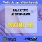 Vacinação contra Febre Amarela continua em Andradas
